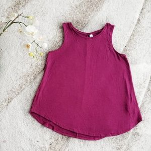 NWT PURPLE LUXE TANK TOP OLD NAVY